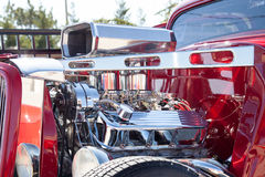 Chrome for days on  out hot rod Royalty Free Stock Photo