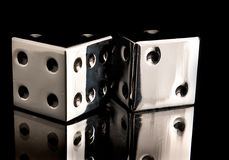 Chrome Dice Royalty Free Stock Photo
