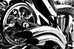Chrome motorcycle Royalty Free Stock Photo
