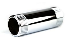 Chrome pipe Stock Photography