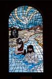 Church Window pane blue Stock Photo