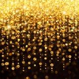 Chuva do Natal das luzes ou do fundo do partido Fotos de Stock