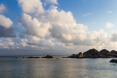 Cielo di tramonto con le belle nubi Fotografia Stock Libera da Diritti