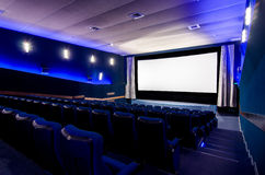 In the cinema theater Royalty Free Stock Images