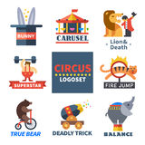 Circus emblems Royalty Free Stock Photography
