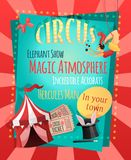 Circus retro poster Royalty Free Stock Image
