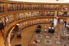 Cirkel bibliotheek Stock Fotografie