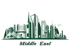 Cities and Famous Buildings in Middle East Royalty Free Stock Photography