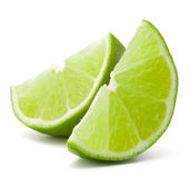 Citrus lime fruit segment isolated on white background cutout Royalty Free Stock Image