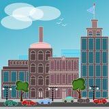 City with autos Stock Photo