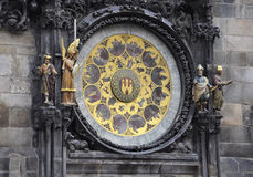 City Hall Astronomy Clock from Prague in Czech Republic Royalty Free Stock Images