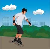 City roller skater Stock Image