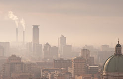 City smog Stock Images
