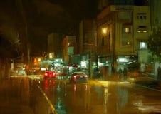 City street at night Stock Image