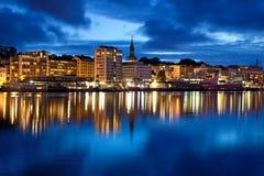 Ciudad de Bergen en Noruega Fotos de archivo