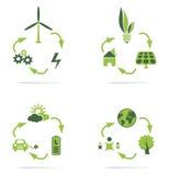 Green energy icon  Stock Photography
