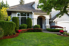 Clean exterior home during late spring season Stock Photography