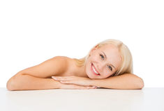 Clean face and shoulders of beautiful young woman Royalty Free Stock Photography