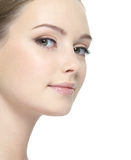 Clean face of woman Stock Photography
