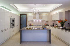 Clean white modern kitchen Stock Photo