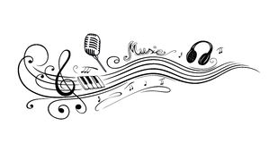 Clef, music notes Stock Photo