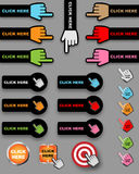 Click here buttons Stock Images