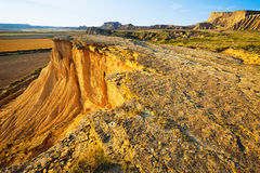 Cliff at desert landscape of Navarra Royalty Free Stock Photography