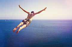 Cliff Diver Stock Images