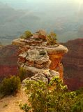 Cliff over Grand Canyon Royalty Free Stock Images