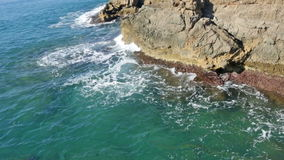 Cliffs at sea   coast  in tranquil  day stock video footage