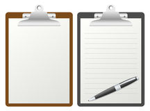 Clipboard with Blank Paper Royalty Free Stock Photos