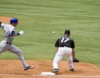 Close play at first base Royalty Free Stock Images