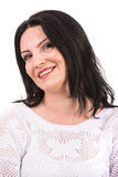 Close up of cheerful woman face Stock Photo