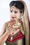 Closeup of Beautiful Indian Bride Stock Photos