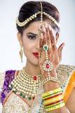 Closeup of Beautiful Indian Bride Royalty Free Stock Images