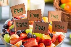 Closeup of fresh fruit salad with no preservatives Stock Image