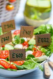 Closeup of healthy salad with no preservatives Royalty Free Stock Photo