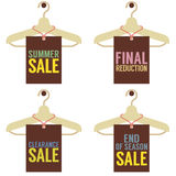 Clothes Hangers With Sale Tag Stock Photography