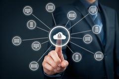 Cloud computing data security Royalty Free Stock Image