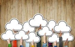 Cloud Diverse Diversity Ethnic Ethnicity Symbol Icon Unity Conce Stock Photos