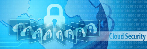 Cloud Security Protection Banner Royalty Free Stock Image