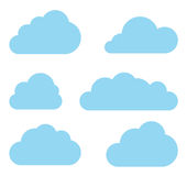Clouds vector collection. Cloud computing pack. Stock Photography