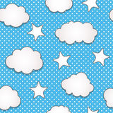 Clouds seamless pattern Stock Photos