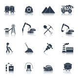 Coal Industry Icons Black Stock Images