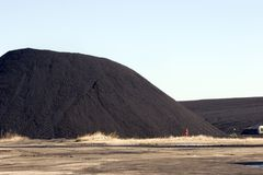 Coal pile for powerplant Royalty Free Stock Photos