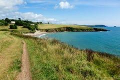Coastal Pathway leading to Porthcurnick Beach Cornwall Royalty Free Stock Photos