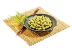 Coated peanuts wasabi flavour Stock Image
