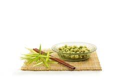 Coated peanuts wasabi flavour Stock Photos