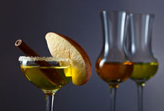 Cocktail with apple and cinnamon Stock Photography