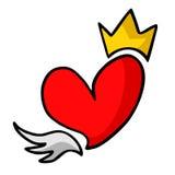 Coeur de roi Photos stock